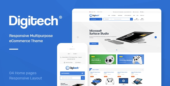 Digitech - Technology Theme for WooCommerce WordPress - WooCommerce eCommerce