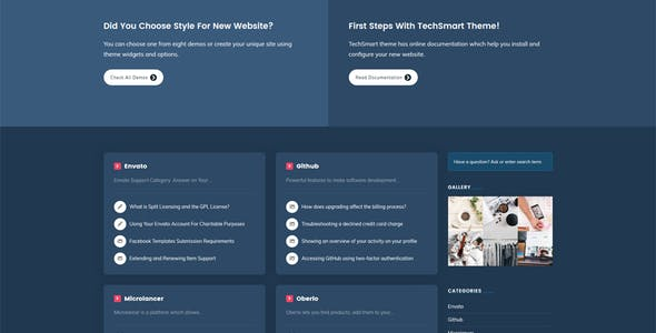 TechSmart - Helpdesk and Knowledge Base WordPress Theme