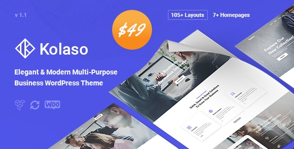 Kolaso - Modern Multi-Purpose WordPress Theme - Business Corporate