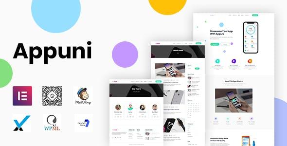 Appuni - App Landing WordPress Theme + RTL - Software Technology