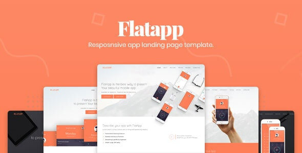 FlatApp - App Landing Page - Apps Technology