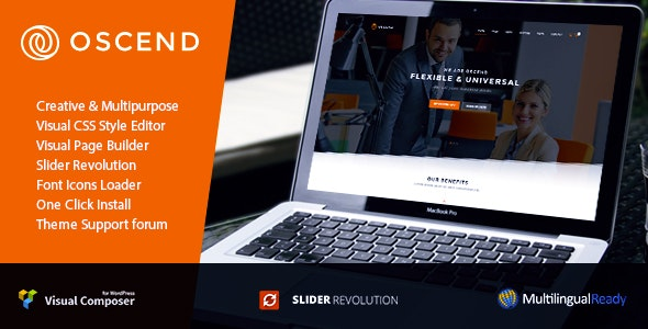 Oscend - Creative Agency WordPress  Theme - Corporate WordPress