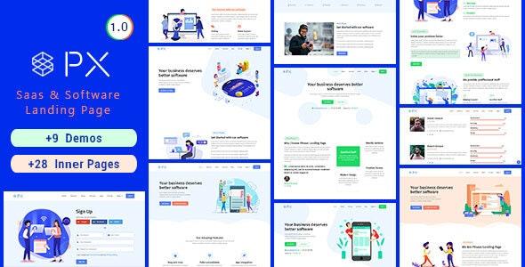 PXaas - App & Software Landing Page Theme - Marketing Corporate