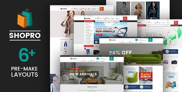 Shopro - Mega Store Responsive Magento Theme - Shopping Magento