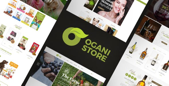 Ogani - Organic, Food, Pet, Alcohol, Cosmetics Opencart 2.3 & 3.x Theme