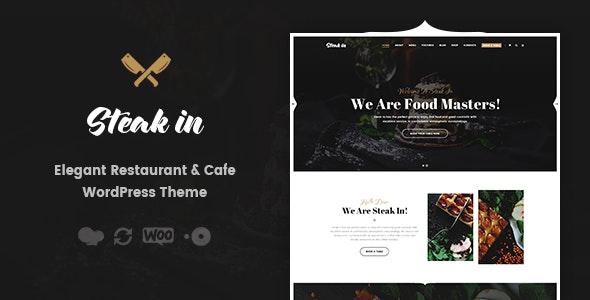 Steak In - Restaurant & Cafe WordPress Theme - Restaurants & Cafes Entertainment