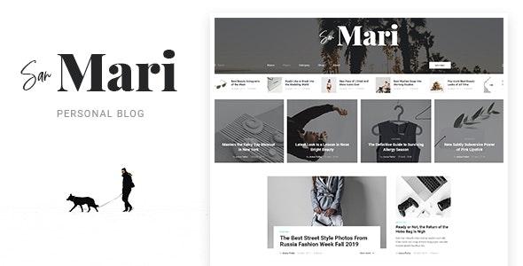 San Mari - Blog PSD Template - Personal Photoshop
