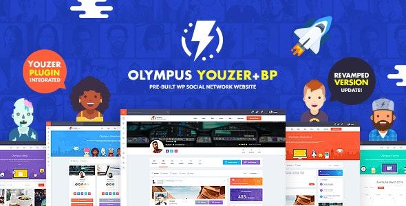 Olympus - Powerful BuddyPress Theme for Social Networking - BuddyPress WordPress