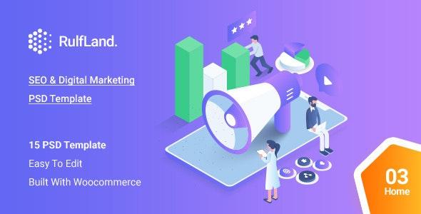 Rulfland - Creative Multipurpose PSD Template - Marketing Corporate