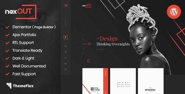 Nexout - Elementor Ajax Portfolio WordPress Theme - Portfolio Creative