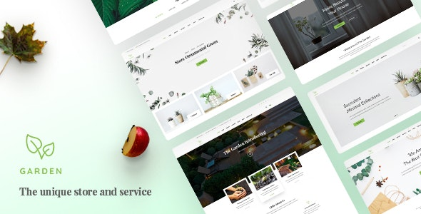 Garden - Lawn & Landscaping Bootstrap 4 Template - Business Corporate