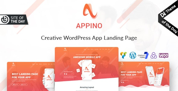 Appino - Creative WordPress App Landing Page - Technology WordPress