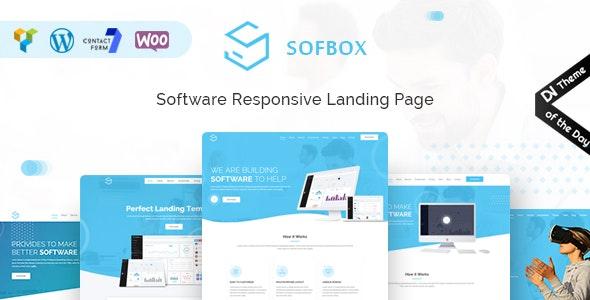 Sofbox - WordPress Software Landing Page - Technology WordPress