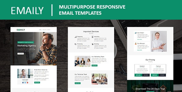Emaily - Multipurpose Responsive Email Template With Online StampReady Builder Access - Newsletters Email Templates