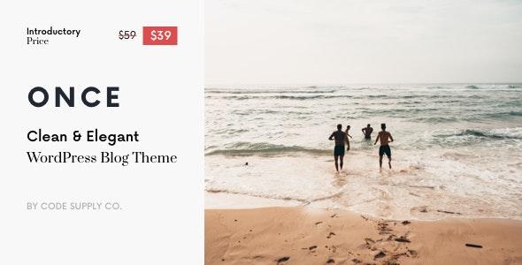 Once - Clean & Elegant WordPress Blog Theme - Personal Blog / Magazine