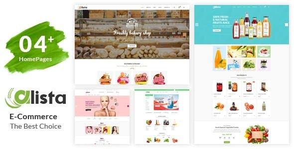 Alista – Organic Beauty Shop HTML Template by HasTech