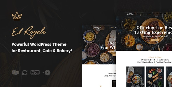 Elroyale - Restaurant & Cafe WordPress Theme - Restaurants & Cafes Entertainment