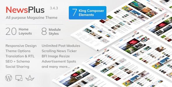 NewsPlus - News and Magazine WordPress theme - News / Editorial Blog / Magazine