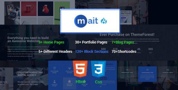 Mait   Responsive Bootstrap Drupal 8.8 Landing Page Theme - Creative Drupal