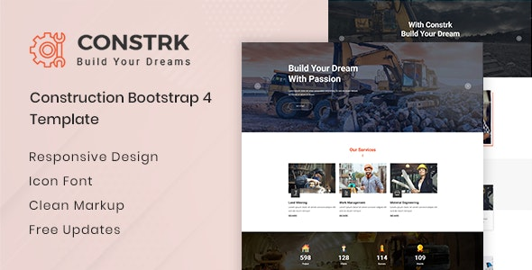 Constrk  - Construction HTML Template - Business Corporate