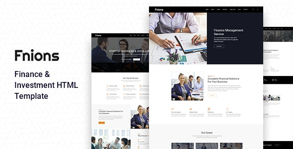 Fnions - Finance and Business Consulting HTML Template - Business Corporate