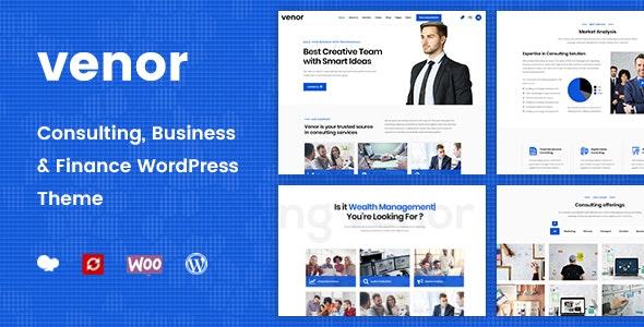 Venor - Business Consulting WordPress Theme - Business Corporate