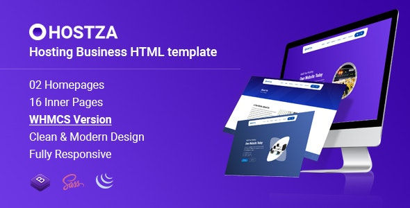 HostZa - WebHosting Business HTML Template - Hosting Technology