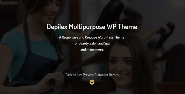 Depilex Salon - Parlour - Spa - Gym - Multipurpose WP Theme - Health & Beauty Retail