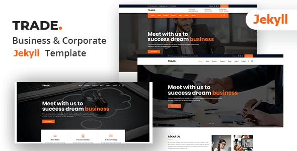 Trade - Corporate and Business Jekyll Template nulled theme download