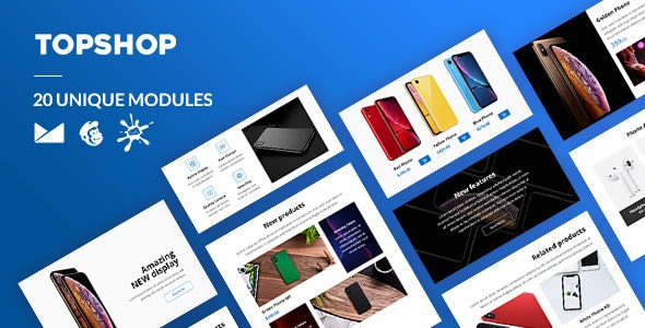 TopShop Email-Template + Online Builder - Newsletters Email Templates