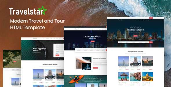 Travelstar - Tour & Travel Agency HTML Template - Travel Retail