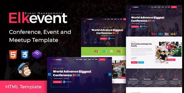 Elkevent - Conference, Event and Meetup Template by EnvyTheme