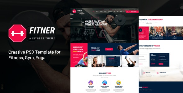 Fitner - Gym & Fitness PSD Template - Health & Beauty Retail