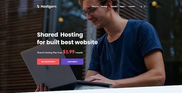 Hostgem - WHMCS & Hosting PSD Template
