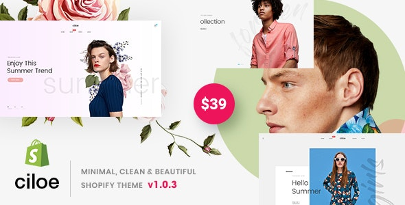 Ciloe - Minimal, Clean & Beautiful Shopify Theme - Shopify eCommerce