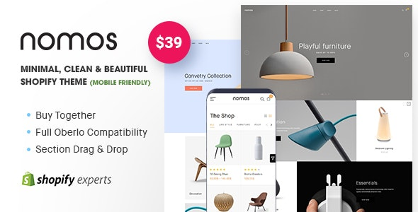 Nomos - Minimal, Clean & Beautiful Shopify Theme (Mobile Friendly) - Shopify eCommerce