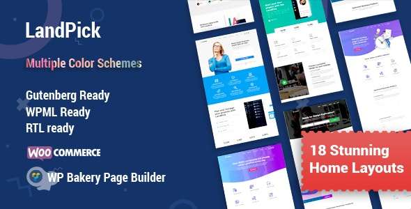 Landpick - Multipurpose Landing Pages WordPress Theme - Marketing Corporate