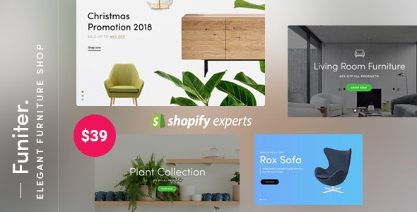 Funiter - Elegant furniture shop for Shopify (Mobile Friendly) - Shopify eCommerce