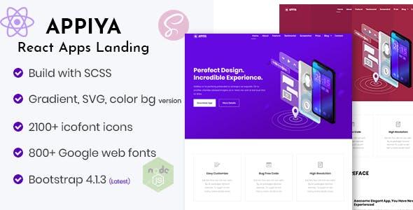 Appiya - React App Landing Page