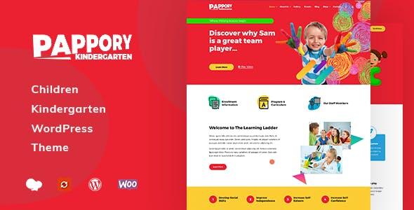 Pappory - Children Kindergarten WordPress Theme nulled theme download