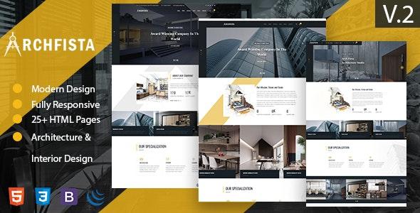 Archfista - Architecture Interior Design &  Building HTML 5 Template - Business Corporate