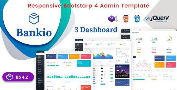 Bankio - Bootstrap 4 Admin Dashboard & WebApp Templates - Admin Templates Site Templates