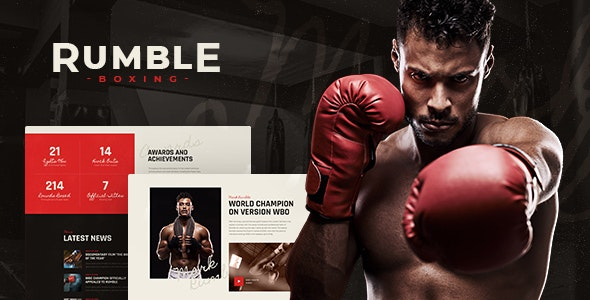 Rumble | Boxing & Mixed Martial Arts Fighting WordPress Theme - Entertainment WordPress