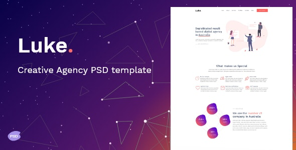 Luke - Creative digital agency PSD Template - Creative PSD Templates