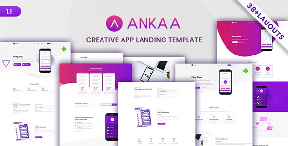 ANKAA - App Landing Page - Technology Site Templates