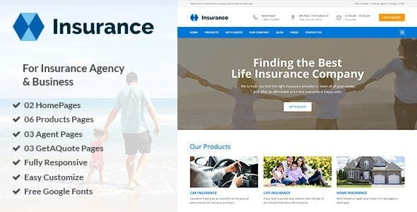 Insurance - Responsive Business Joomla Template - Business Corporate