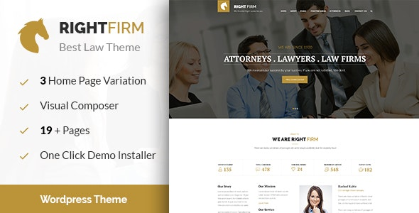 Right Firm- Law Firm WordPress Theme - Business Corporate