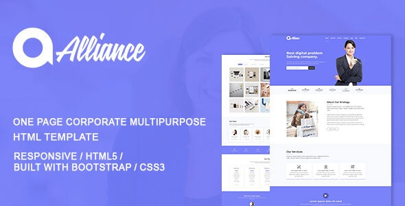 Alliance Html  Corporate Landing Page Template - Site Templates