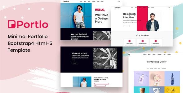 Portlo - Minimal Portfolio HTML Template - Portfolio Creative