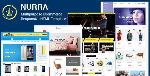 Nurra - Electronics, Furniture, Gym & Fashion Store Multipurpose Responsive HTML template - Retail Site Templates